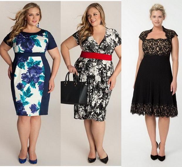 Фото модных платье лето для полных женщин